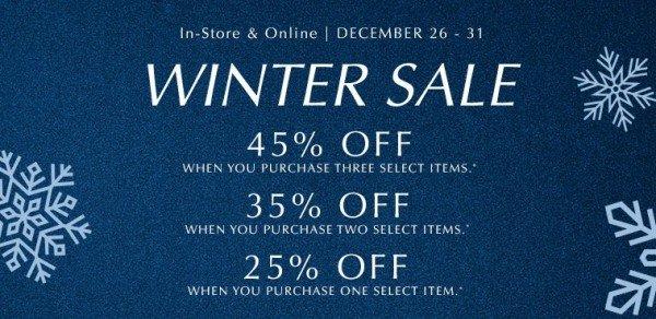 PANDORA's Post-Holiday 2017 Winter Sale