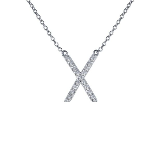 X Simulated Diamond Necklace