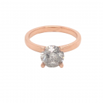 14K Rose Gold Salt and Pepper Diamond Ring