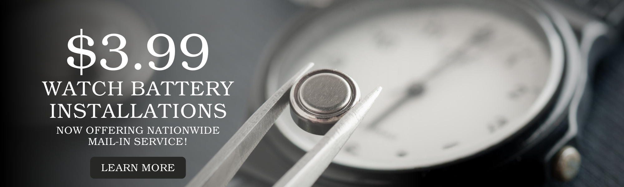 Watch Battery Installations In-Store and Online